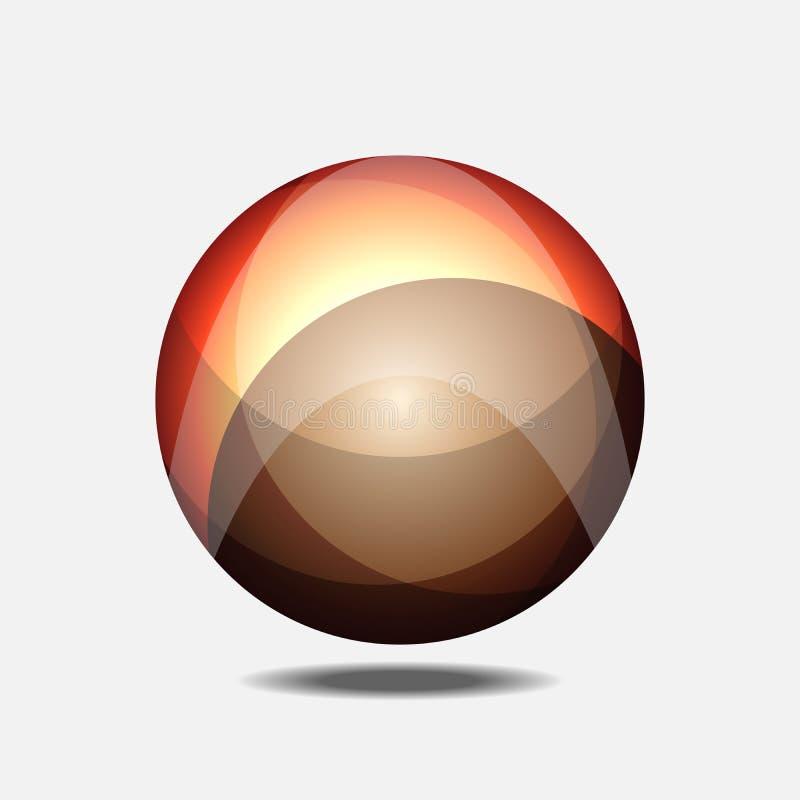 Orange fractal building a globe. Is a general illustration royalty free illustration