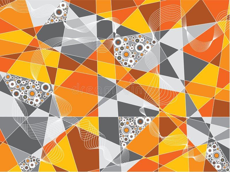 Orange fragments circles stock illustration
