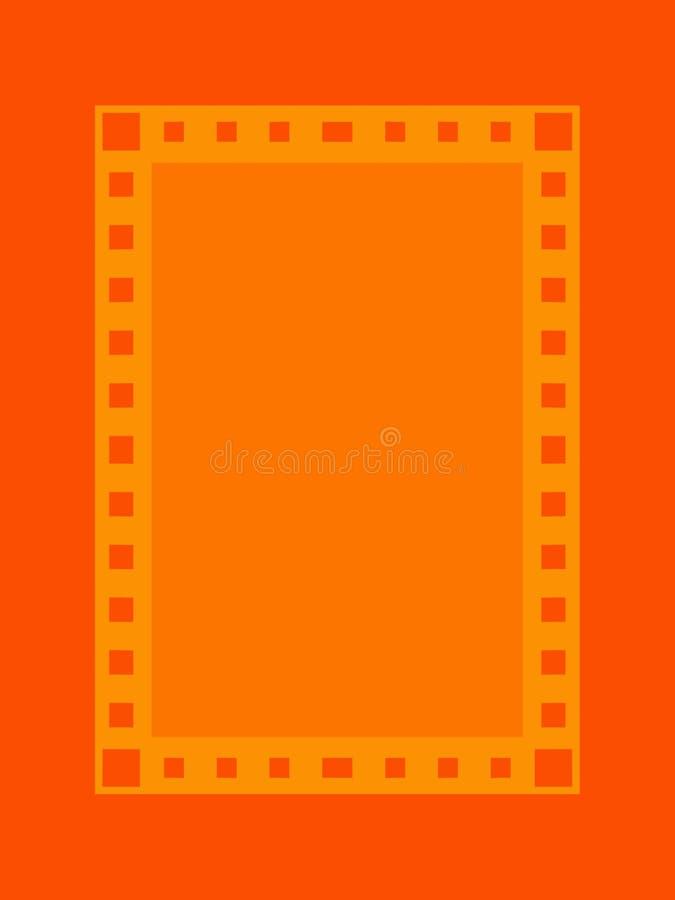 Orange frame royalty free illustration