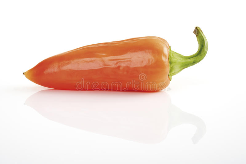 Orange Fresno pepper, close-up stock photos