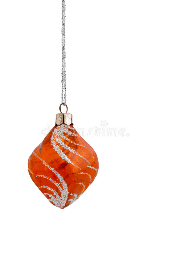 Download Orange Frosted Christmas Bauble Stock Photo - Image: 10684034