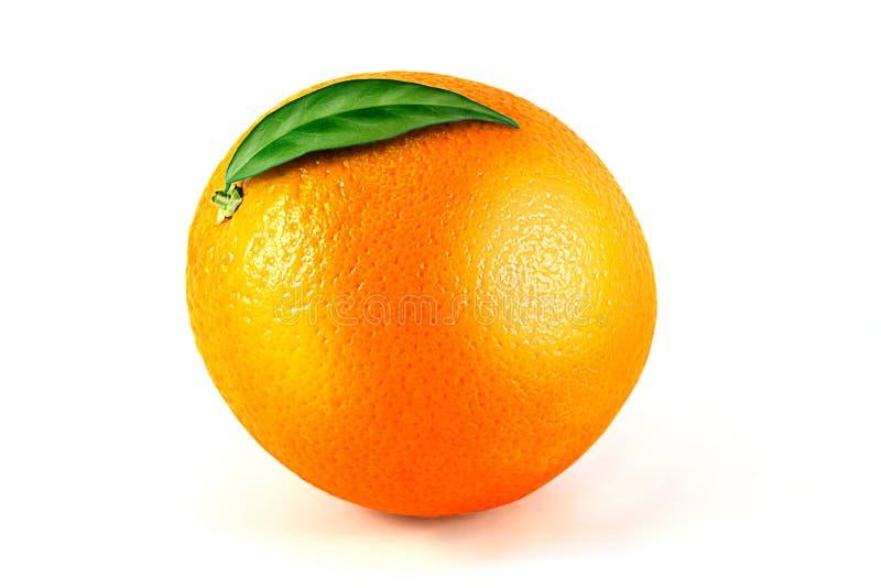 Orange Frucht getrennt auf Weiß lizenzfreie stockfotografie