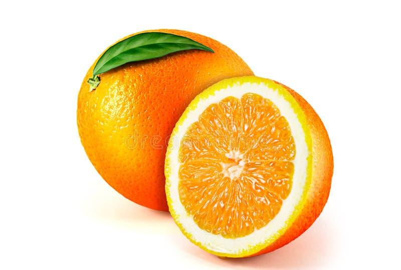 Orange Frucht getrennt auf weißem Hintergrund lizenzfreie stockbilder