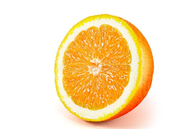 Orange Frucht getrennt auf weißem Hintergrund lizenzfreie stockfotografie