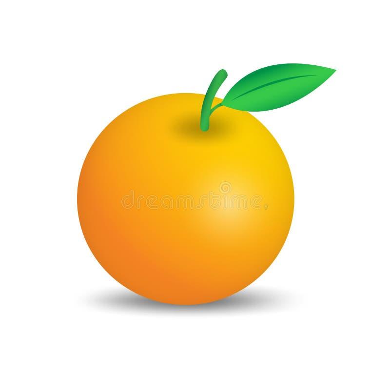 Orange Fruchtvektor, Netzikone, Zeichen, Gestaltungselemente für Geschäft lizenzfreie abbildung