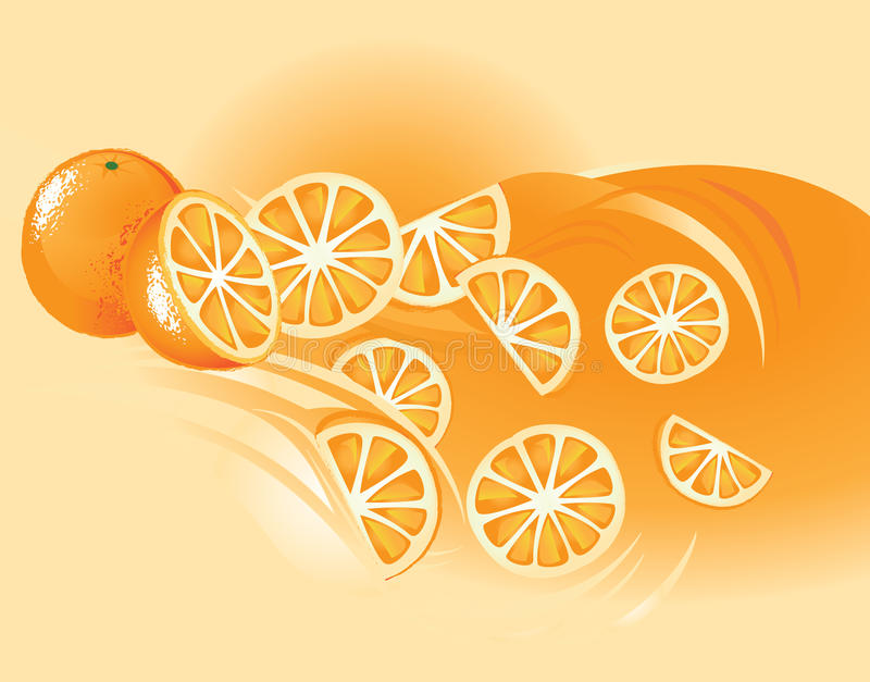 Orange, Fruit royalty free illustration