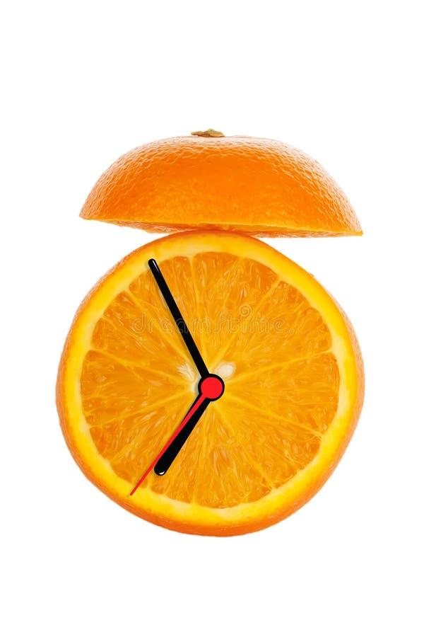 Orange Fruit Alarm Clock stock image