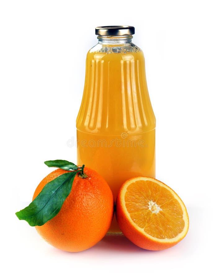 Free Orange Fruit And A Bottle Of Juice Royalty Free Stock Photo - 89175685