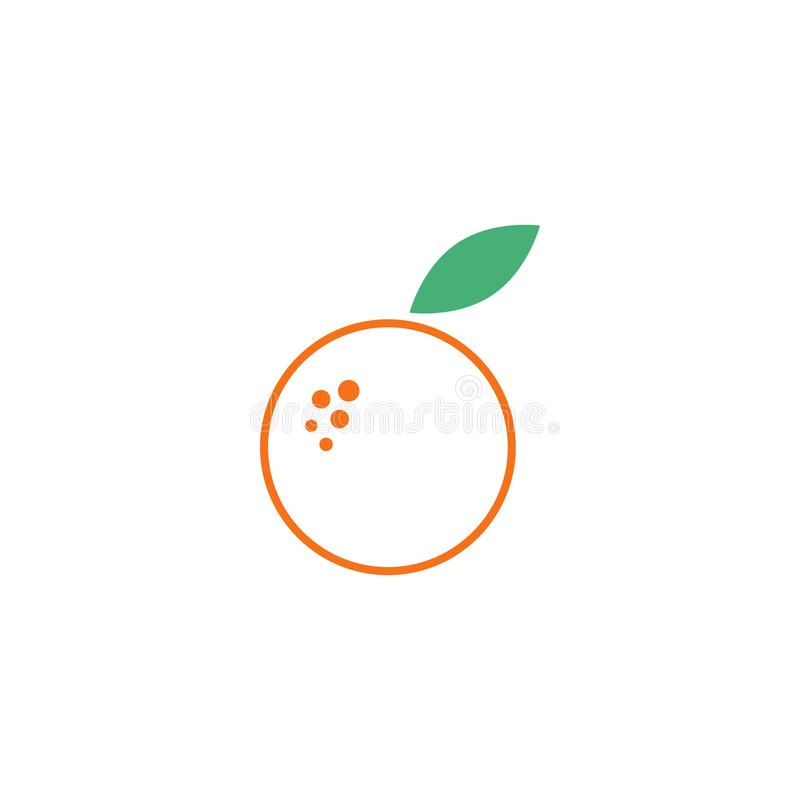 Orange fruit graphic design template vector isolated. Green, diet, logo, icon, abstract, fresh, summer, delicious, taste, lime, vitamin, label, vegetarian vector illustration
