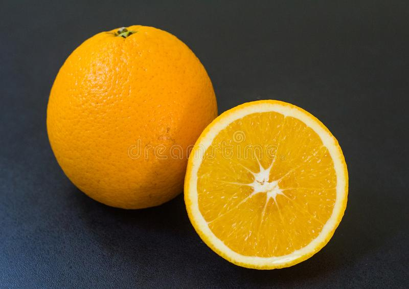 Orange fruit for healthy and vitamin C stock image