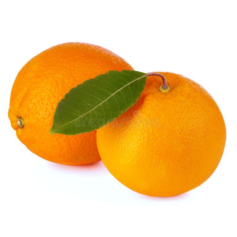 Orange Fruit Isolated On White Stock Images