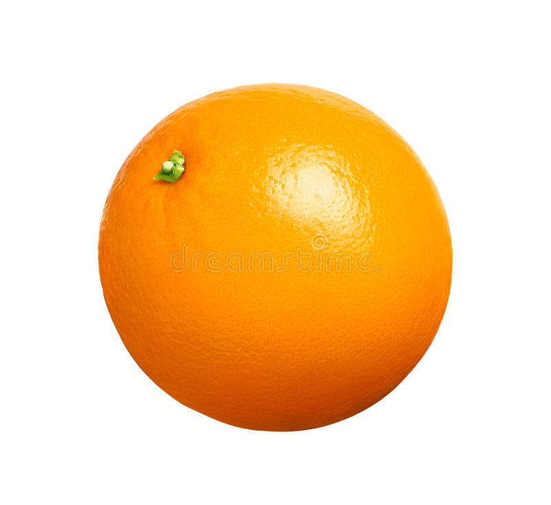Orange fruit isolated stock image
