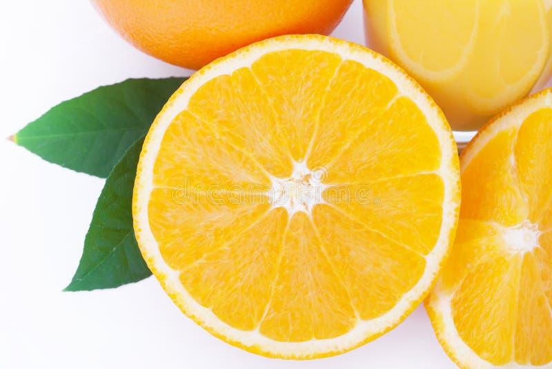 Orange fruit isolated on white background. Clipping Path stock photography