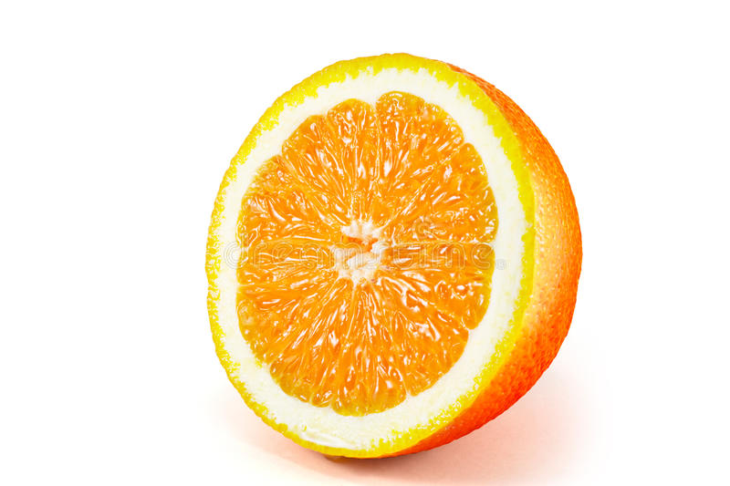 Orange fruit isolated on white background royalty free stock photography