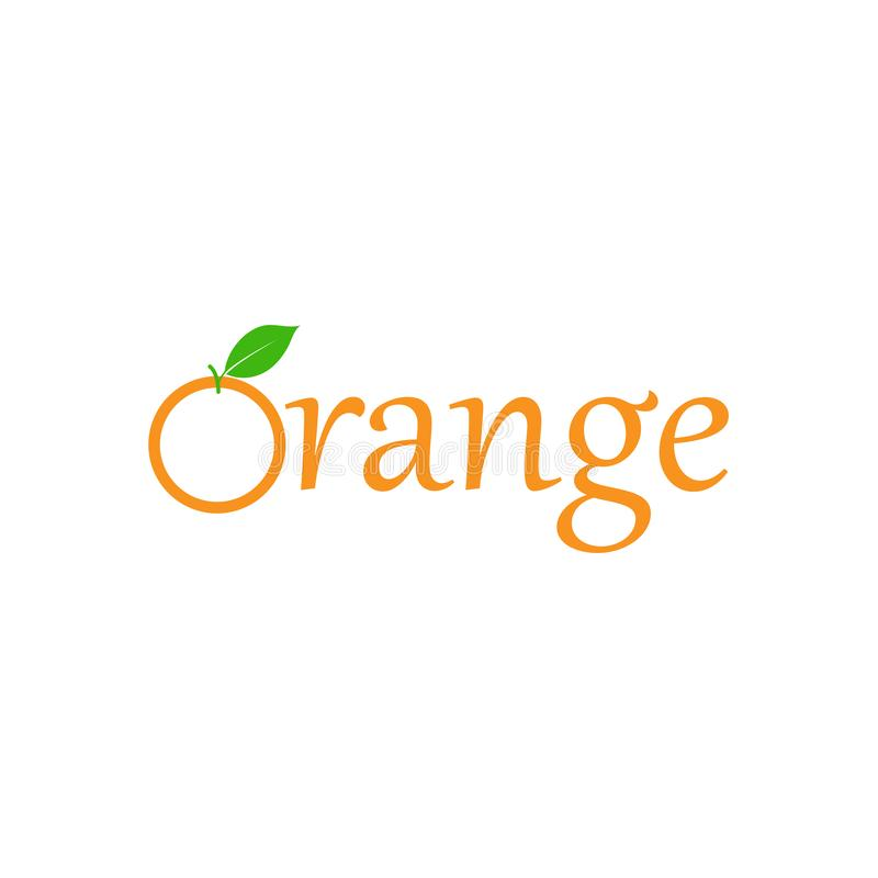 Orange fruit logo design template vector isolated. Illustration, slice, food, fresh, healthy, natural, vitamin, vegetarian, icon, juice, plant, diet, organic royalty free illustration