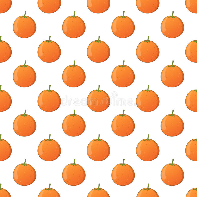 Orange Fruit Seamless Pattern on White. A seamless pattern with oranges, isolated on white background. Useful also as design element for texture, patterns or royalty free illustration