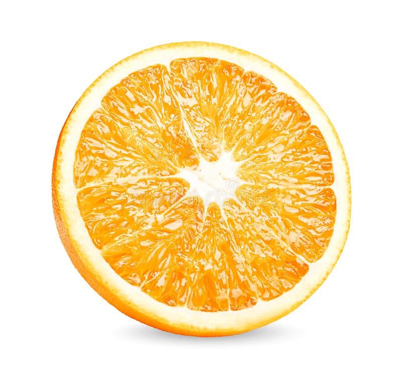 Orange fruit. Orange slice isolate on white background. Fruit. Orange slice isolate on white background stock image