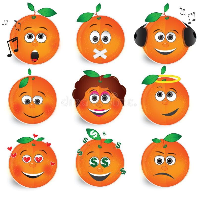 Free Orange Fruit Smile Vector Set 2 Royalty Free Stock Photography - 7482627