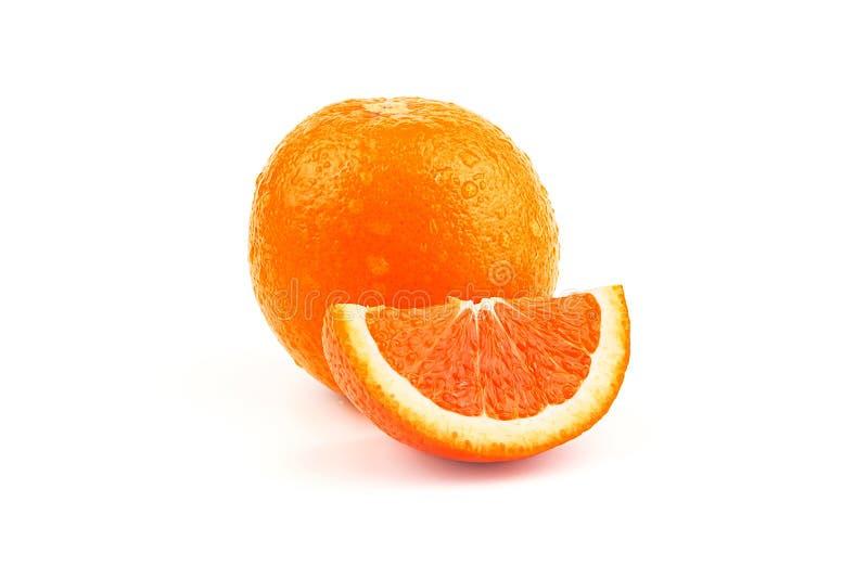 Orange fruit with white background stock image