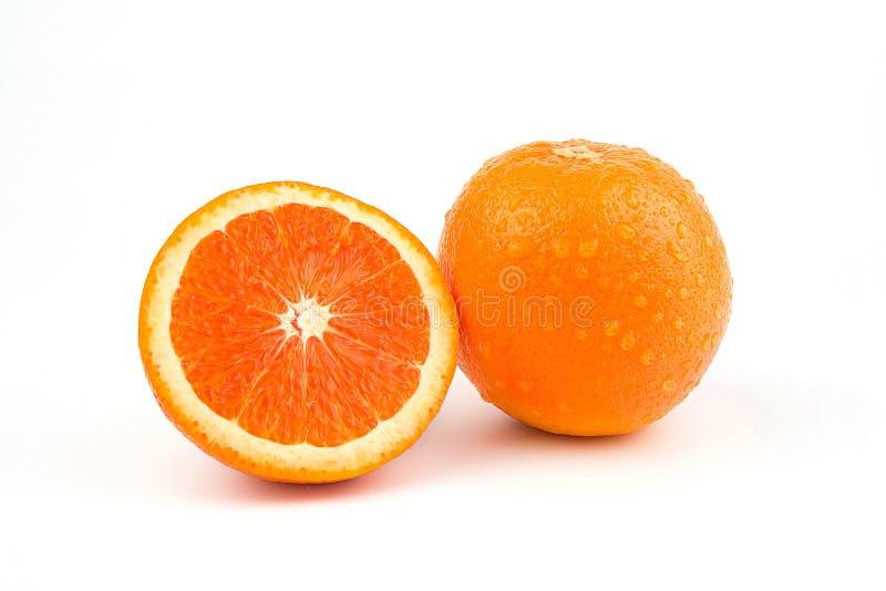 Orange fruit with white background stock photography