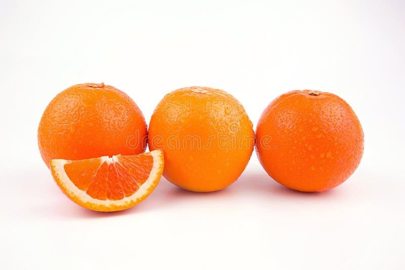 Orange fruit with white background stock photo