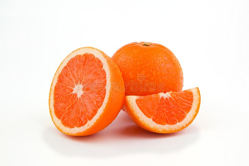 Orange fruit with white background royalty free stock images