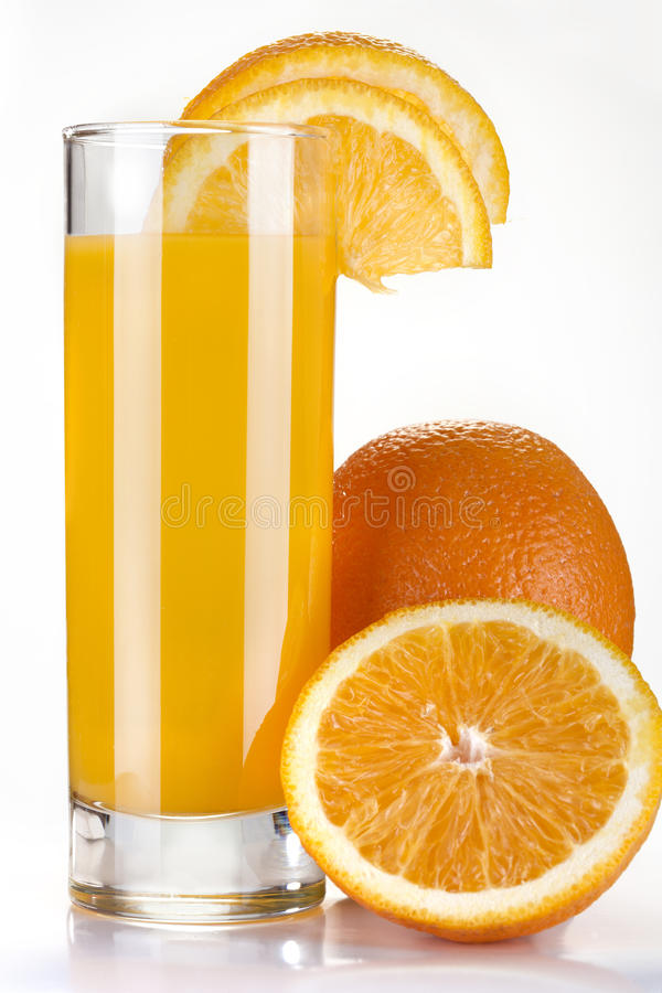 Orange fruktsaft arkivfoto