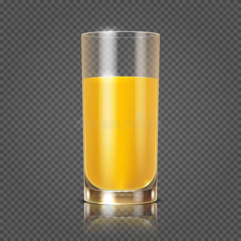 Orange fruktsaft i den glass vektorillustrationen royaltyfri illustrationer