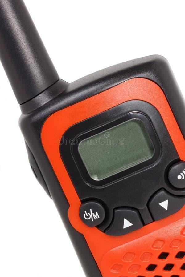 Orange Funksprechgerät Getrennt auf weißem Hintergrund lizenzfreie stockfotos