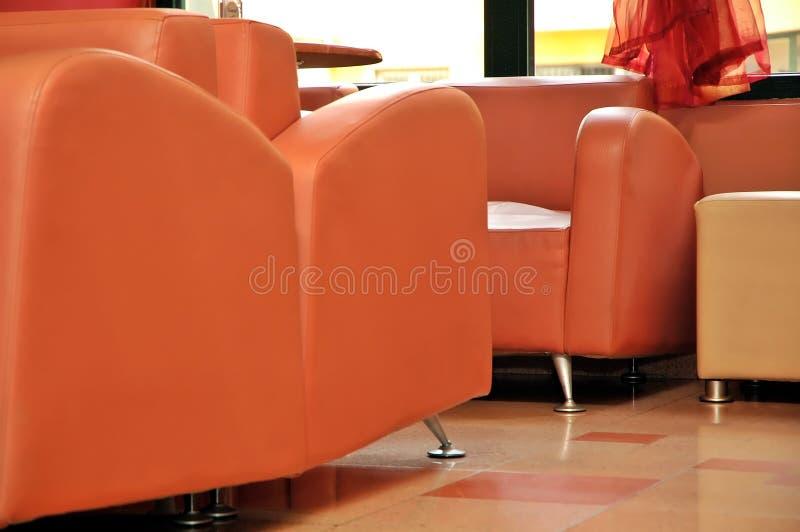 Orange furniture stock photography