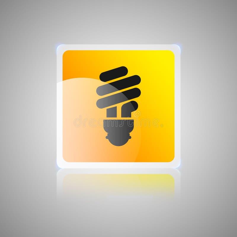 Orange fyrkantig glas- knapp för snabba spetsar vektor illustrationer
