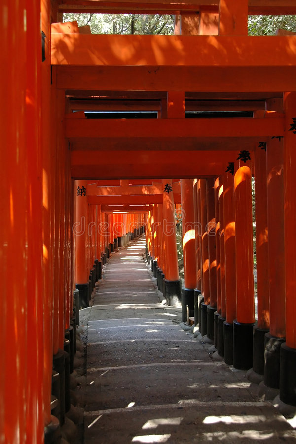 Download Orange gates stock image. Image of shintoism, architecture - 1291719