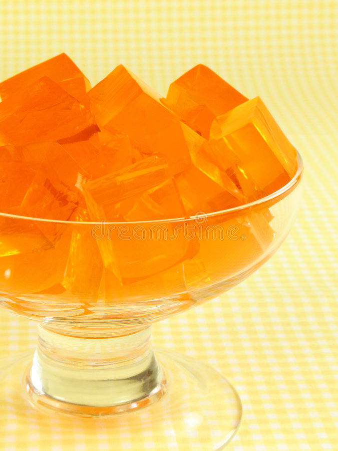 Orange Gelatine lizenzfreies stockfoto