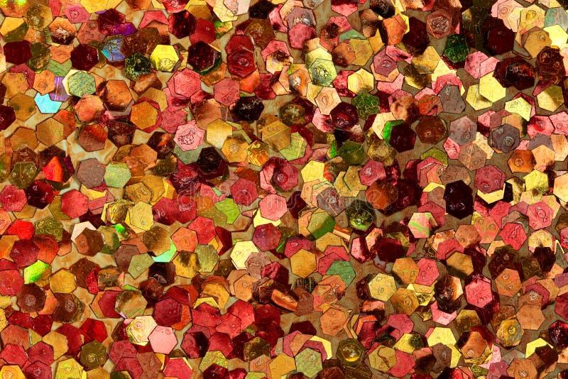 Orange, gelber, roter, rosa Funkeln-Hintergrund lizenzfreie abbildung