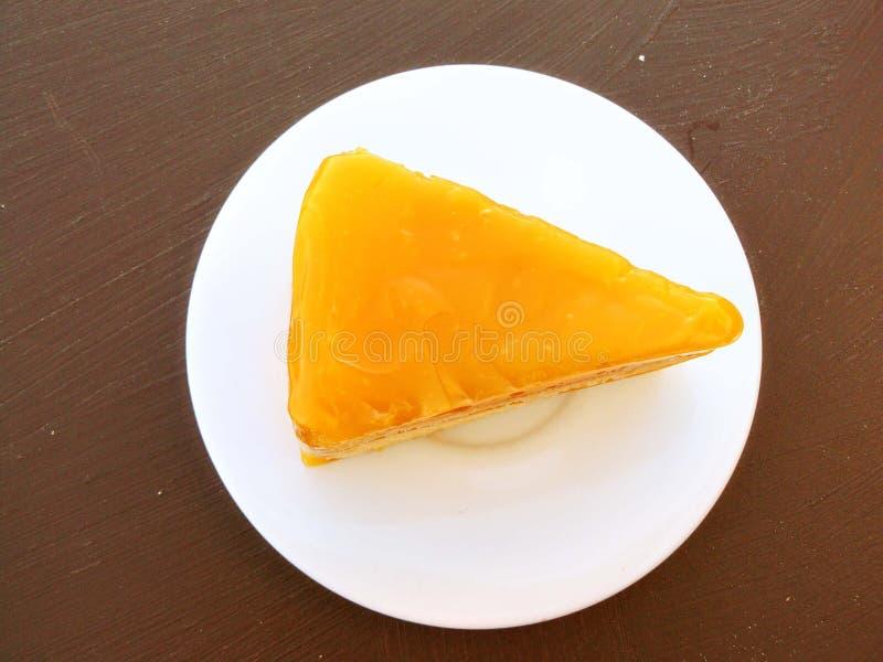 Orange Geleekuchen stockfotos