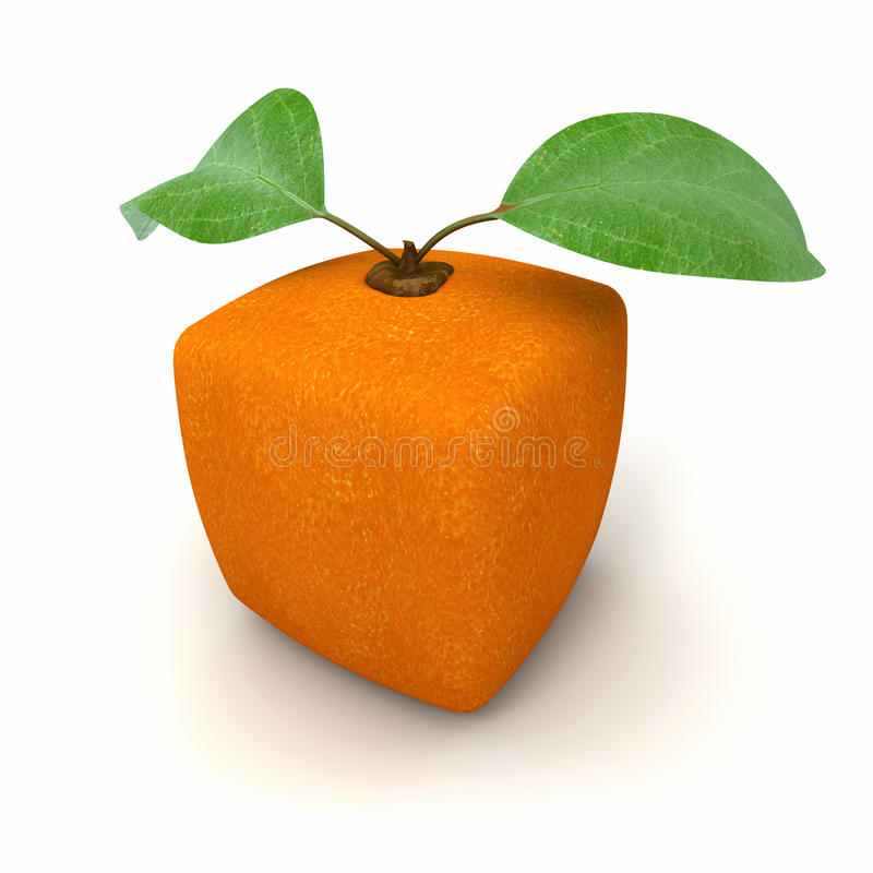 Orange geometric royalty free stock photo
