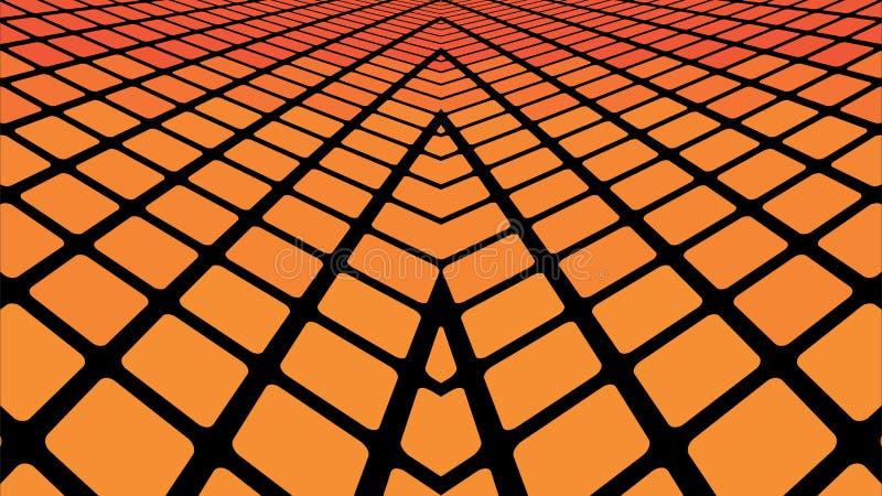 Orange geometric abstract background. Infinite orange tiles background - Illustration, Orange geometric abstract background vector illustration