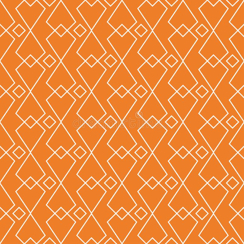 Orange geometric ornament. Seamless pattern royalty free illustration