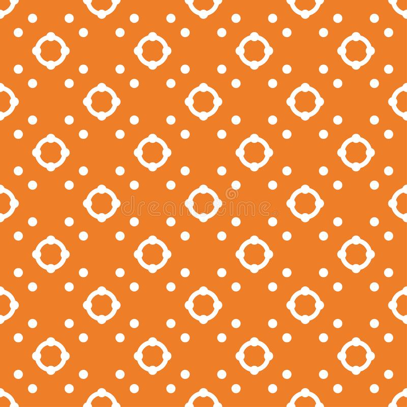 Orange geometric ornament. Seamless pattern vector illustration