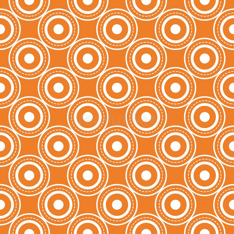 Orange geometric print. Seamless pattern vector illustration