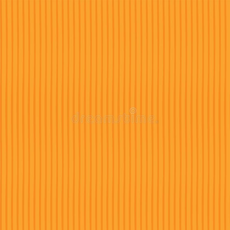 Orange geometrisches nahtloses Vektormuster des Zusammenfassungsvektors Vibrierender dünner Hintergrund der vertikalen Streifen T stock abbildung