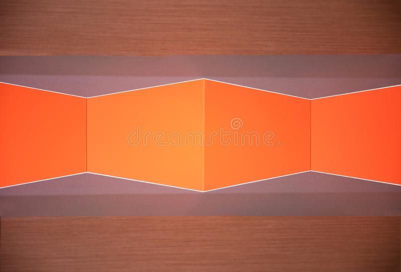Orange geometry wall. Texture and wallpaper royalty free stock images