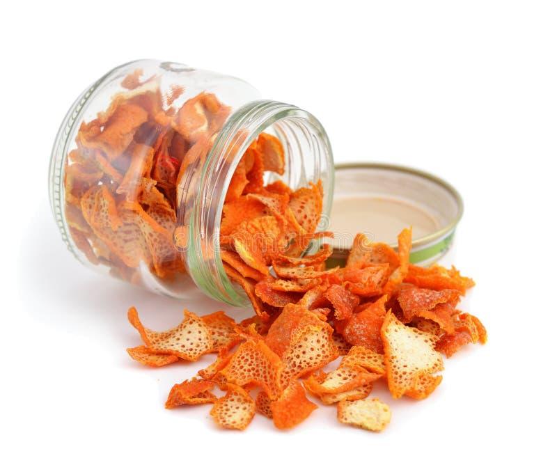 Orange getrocknete Schale stockfotografie