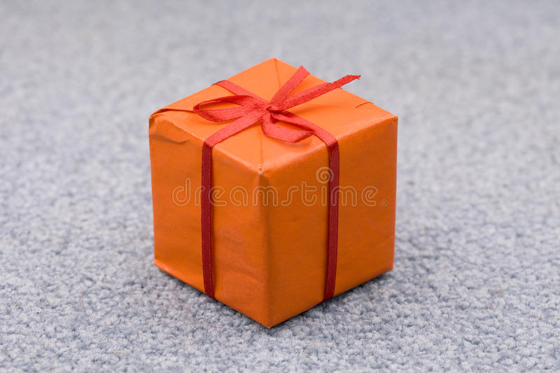 Download Orange gift box stock image. Image of decor, background - 12239789