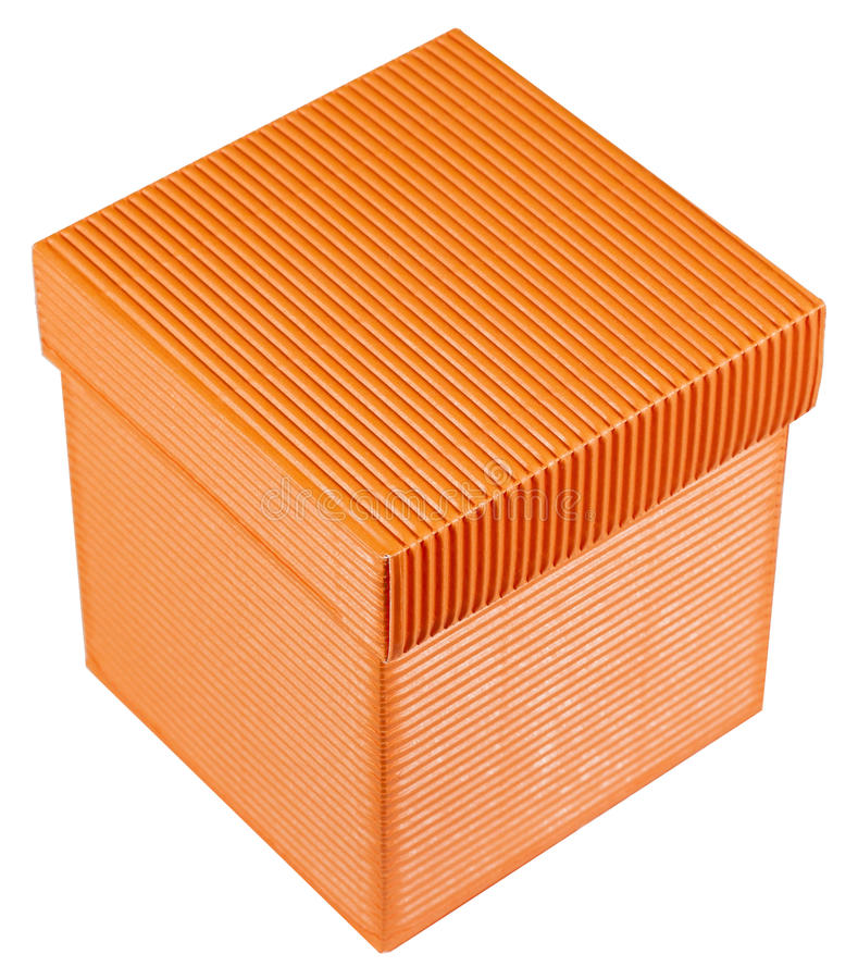Download Orange gift box stock photo. Image of package, cardboard - 24043058