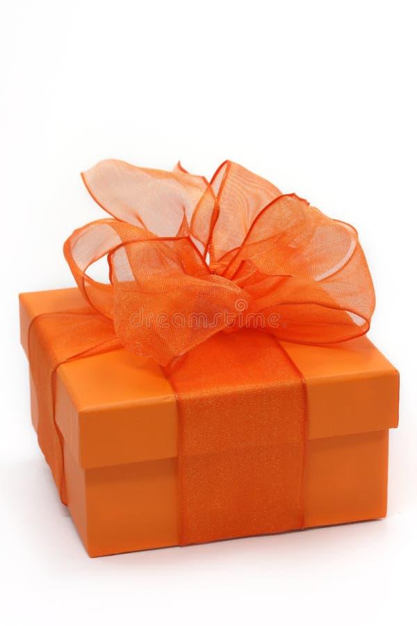 Free Orange Gift Box Stock Image - 3000361