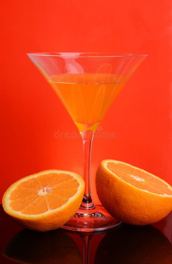 Orange Glas lizenzfreie stockbilder