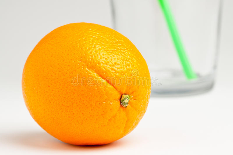 Download Orange with glass stock photo. Image of sweet, fruit - 13237994