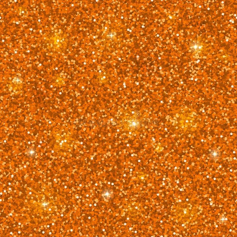 Orange glitter seamless pattern. Vector stock illustration