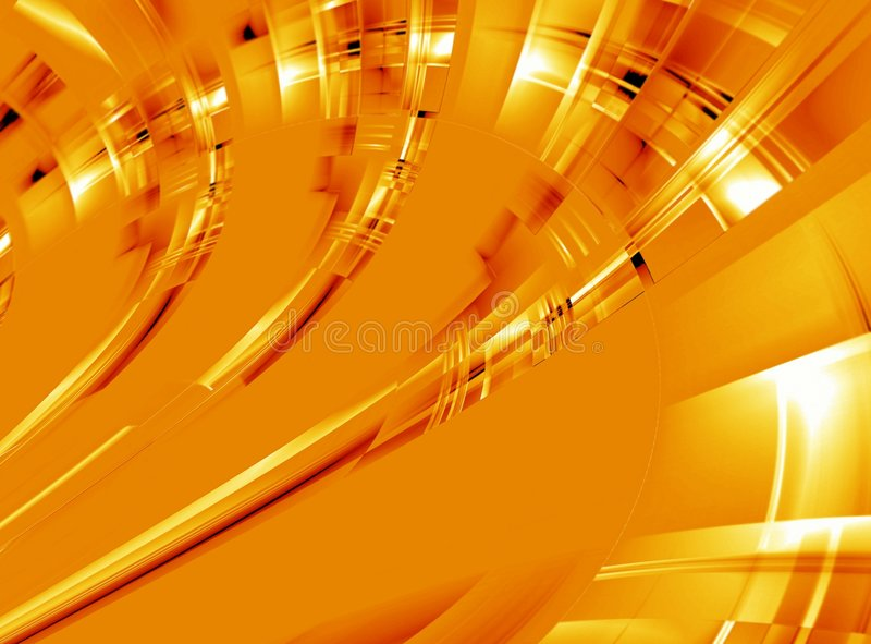 Orange glow abstract. Ion background